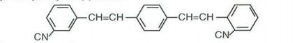 (ortho-cyano styryl-meta-para-cyano styryl)benzene