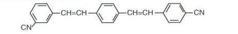 (para-cyano styryl-meta-cyano styryl)benzene